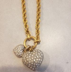 Jewelry - Gold 2 Heart Necklace